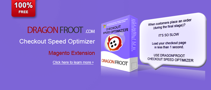 When customers place an order (during the final stage)? IT'S SO SLOW Load your checkout page in less than 1 second. USE DRAGONFROOT CHECKOUT SPEED OPTIMIZER